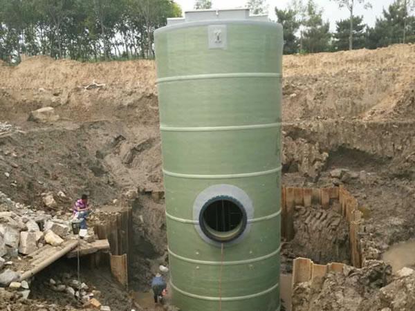 一体化污水提升泵站安装